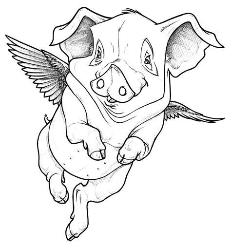 Flying Pig | Rachel Peters Animator Artist Performer ... Flying Pig Drawing