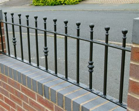 garden wall railings regent railing made to measure for you wrought iron