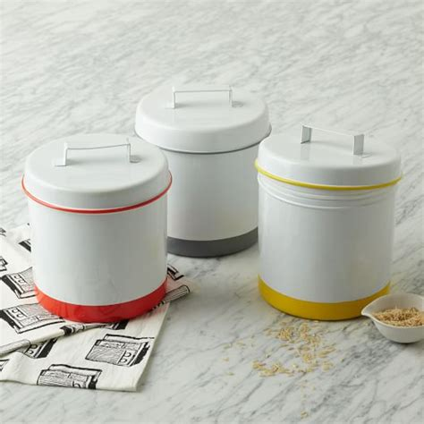 enamel kitchen canisters enamel canisters west elm