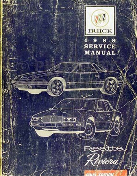book repair manual 1989 buick riviera spare parts 1986 1992 buick riviera reatta parts book original