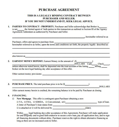 real estate development agreement template sle real estate purchase agreement 8 exles format
