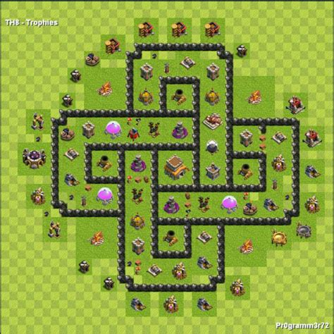 layout vila nivel 8 centro da vila nivel 8 melhor layout clash of clans dicas