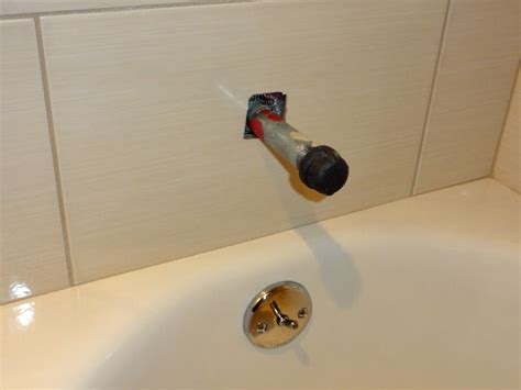 Bathtub Spout Installation by Installing A New Bathtub Grohe Tub Shower Valve Americast Terry Plumbing Remodel Diy