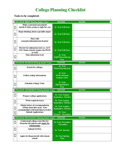 college planning sjs college planning checklist pdf