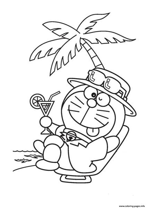 free coloring page doraemon relaxing doraemon cartoon sf012 coloring pages printable