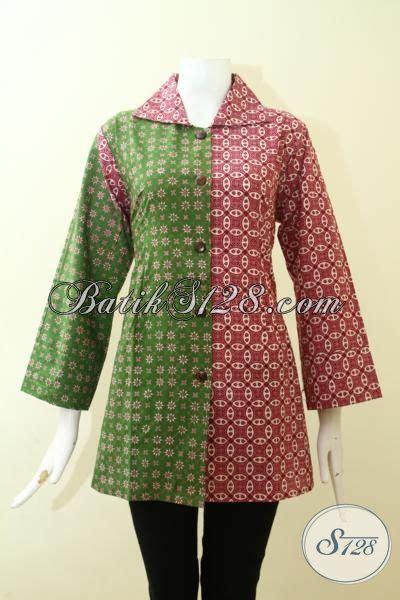Baju Terusan Cewek Pakaian Wanita Dress Dua Warna Asimetris Clo367 pakaian batik cewek keren dengan dua motif blus batik masa kini dua warna hijau dan merah jambu