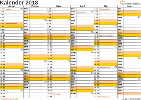Kalender 2018 Querformat Zum Ausdrucken Kalender 2018 Zum Ausdrucken Kostenlos