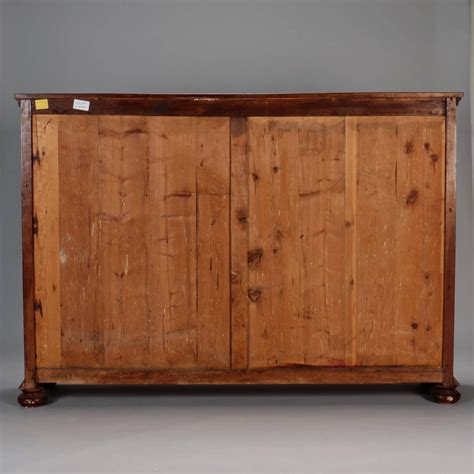 19th century italian walnut two door shallow wall