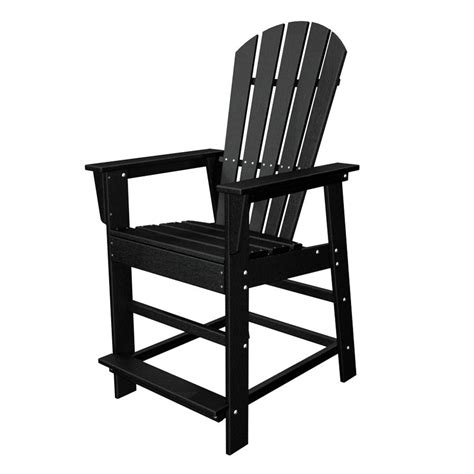 shop polywood south beach black plastic patio barstool