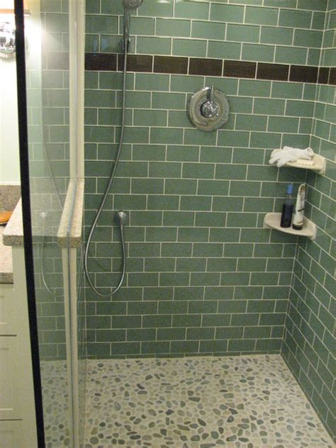 Glass Subway Tile Shower by Glass Subway Tile Bathrooms By Subwaytileoutlet