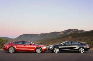 Audi Mercedes 2012 Audi A7 3 0t Vs 2012 Mercedes Cls550 Comparisons