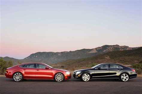 audi vs 2012 audi a7 3 0t vs 2012 mercedes cls550 comparisons