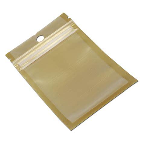 aliexpress ziplock bags wholesale 9 16cm golden clear self seal zipper plastic