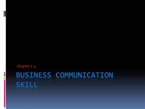 patterns of business communication ppt business communication skill authorstream