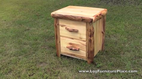 Jhe Log Furniture by Aspen 2 Drawer Log Nightstand From The Beartooth