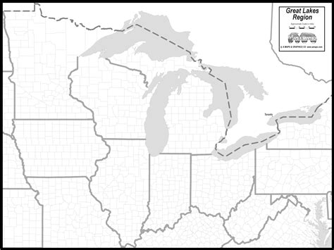 map of united states with great lakes free map of great lakes states