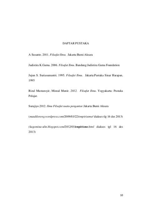 cara membuat makalah filsafat ilmu aliran aliran dalam filsafat ilmu aliran empirisme