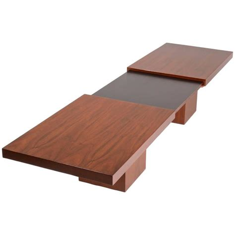expanding coffee table keal expanding coffee table by brown saltman for sale