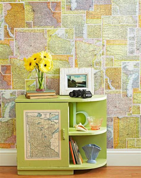 diy map wallpaper uses for maps diy projects craft ideas how to s for