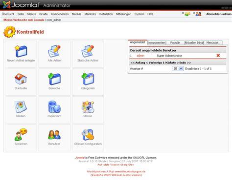 joomla backend templates was ist joomla und wie kann ich damit eine homepage