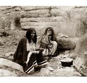 Apache Women Cooking On Campfire