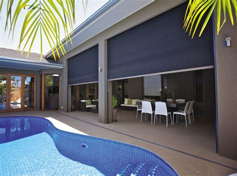 Outdoor Awnings Adelaide by Zipscreen Blinds Melbourne Motorised Blockout