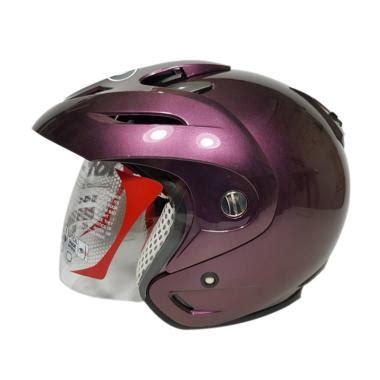 Helm Originalmurahbaru Kyt Helm Romeo Solid 1 jual kyt romeo solid helm half purple harga kualitas terjamin blibli