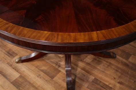 oval table with leaf 48 round dining table with leaf round mahogany dining ebay