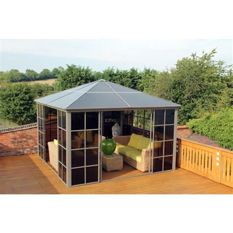 gazebo screen house polycarbonate garden gazebo screen house