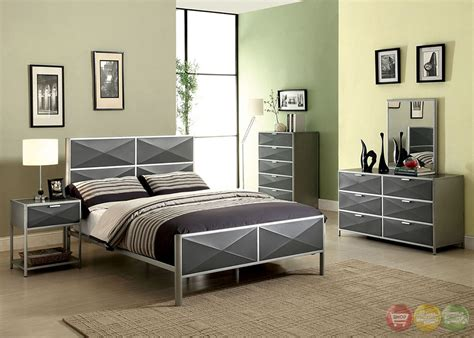 largo bedroom furniture largo contemporary silver and gray youth bedroom set