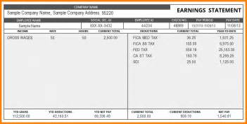Paycheck Stub Template In Microsoft Word by 9 Paystub Template Word Sle Of Invoice