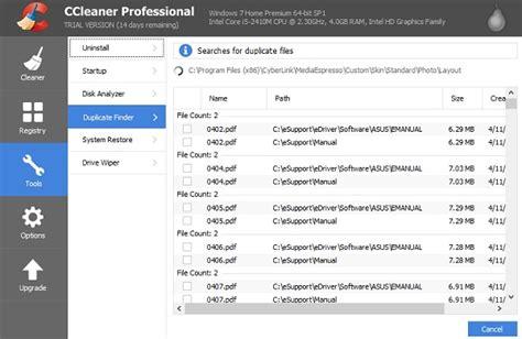 ccleaner duplicate finder cara melajukan komputer rentas hidup