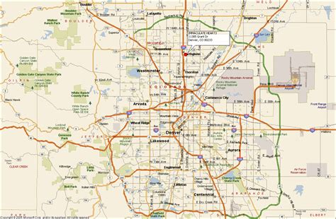 map of denver colorado denver area map my