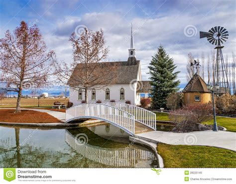 small wedding chapel   country stock image image