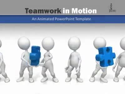 Teamwork In Motion A Powerpoint Template From Presenter Media Templates Free