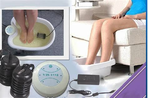 Ion Spa Detox Therapy by Aqua Chi Ion Ionic Tub 2 Arrays Detox Foot Bath Aqua
