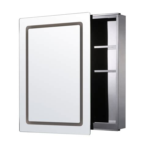 Bathroom Illuminated Mirror Cabinet Homcom Illuminated Mirror Cabinet Led Bathroom Wall Cabinet On Onbuy