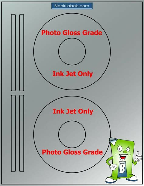 100 Photo Glossy Ink Jet Labels Fits Size 5931 50 Sheets Cd Dvd High Gloss Ebay Avery Cd Labels Template 5931 Free
