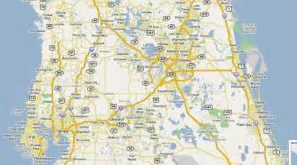 map of ta florida and surrounding cities map of central florida cities maps of central florida