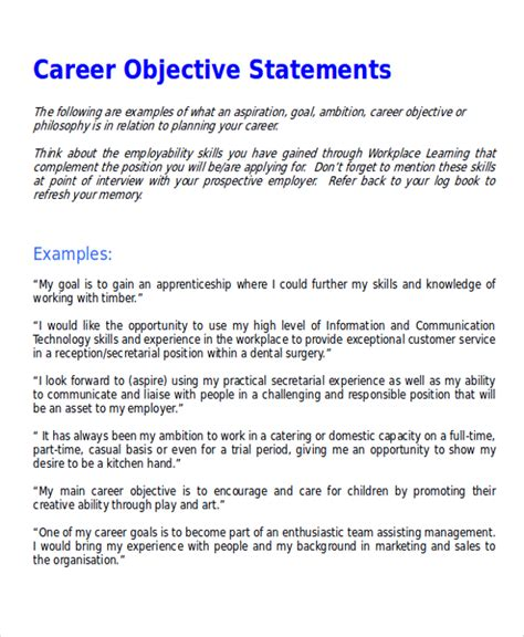 resume objective statement examples luxury e assignment support