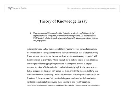 Ib Theory Of Knowledge Essay ib theory of knowledge essay tutor help for homework for resume for software development