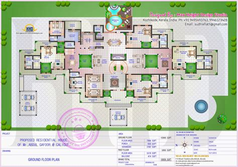 mini mansion floor plans gigantic super luxury floor plan indian house plans