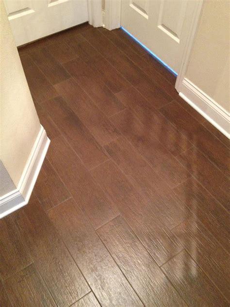 Wood Looking Ceramic Floor Tile by Porcelain Plank Wood Look Tile Installations Ta