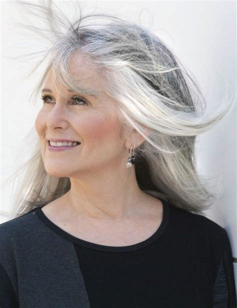 looking with grey hair hairstyles for older women with gray hair gray hair