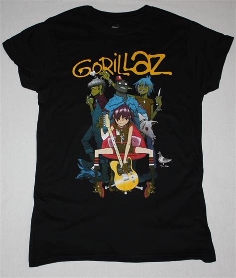 T Shirt Gorillaz 3 gorillaz band alternative hip hop rock brit band blur new