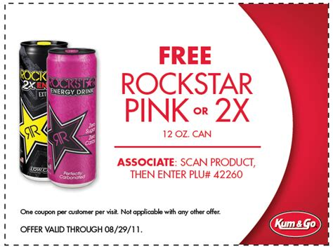 energy drink coupons coupon free rockstar pink energy drink at kum