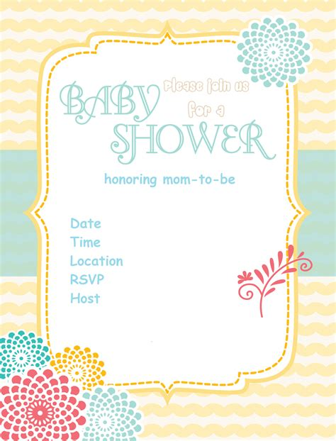 baby shower invitations print at home mociw