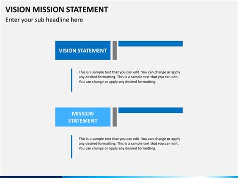 vision mission statement powerpoint template sketchbubble