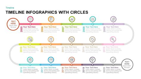 Timeline Infographics With Circles Powerpoint Template Keynote Template Timeline Infographic Template