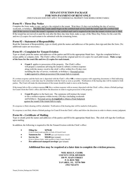 3 day eviction notice florida template best photos of florida eviction notice template free